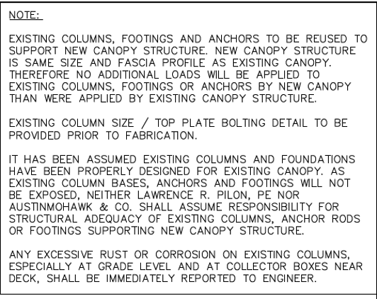 Austin Mohawk Canopy Disclaimer
