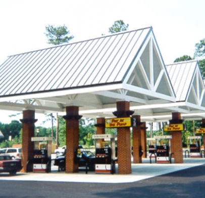 Gas Station With Drive Thru Car Wash >> Gas Station Canopy / Convenience Store Canopy » Austin Mohawk Inc.